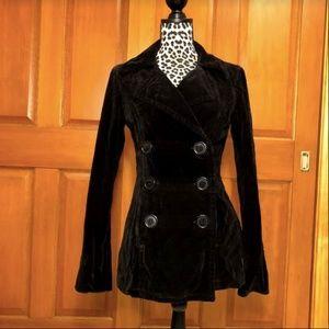 Juicy Couture Crushed Velvet Blazer/Jacket Large